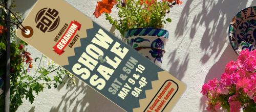 2015 Geranium Show and Sale